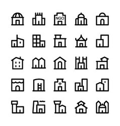 Building Icons 3 vector image