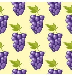 bunch grapes seamless background vector image