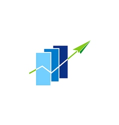 Business finance graph arrow logo vector