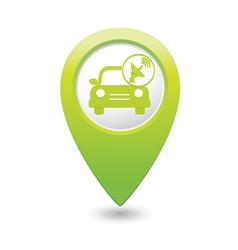 Cars satelite GREEN map pointer vector