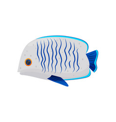 cartoon fish on white background vector image