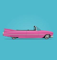 cartoon styled retro car vector image