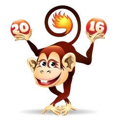 Cheerful Fire monkey vector image