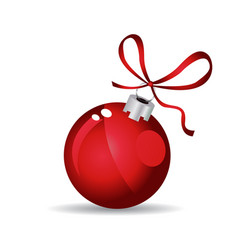 Christmas ball - red - decorated design vector