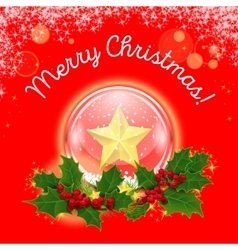 Christmas crystal ball in a wreath of vector image vector image