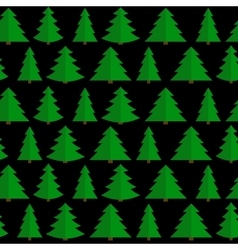 Christmas Flat Tree Seamless Pattern Background vector