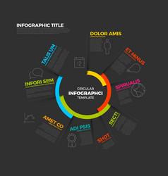 Circular infographic report template vector