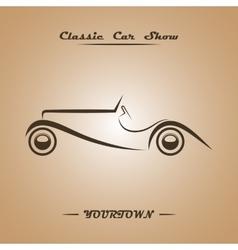 Classic car show poster concept vector