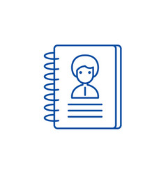 contacts line icon concept contacts flat vector image