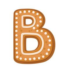 Cookies in shape letter b vector