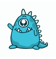 Cute monster T-shirt vector image