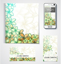 Design of branded products from the flowers Floral vector image
