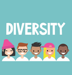 Diversity sign a group of multinational people vector