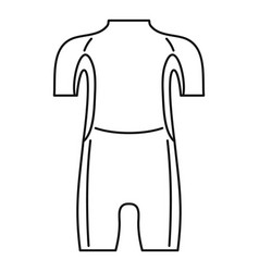 Diving wetsuit icon outline style vector