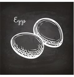 Eggs sketch on chalkboard vector