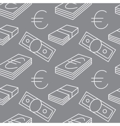 Euro currency seamless pattern Texture with EUR vector