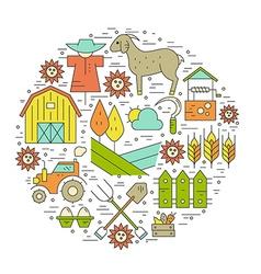 Farming Circle Concept vector