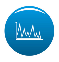 finance graph icon blue vector image