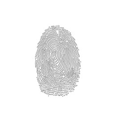 fingerprint outline silhouette vector image