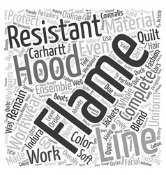 Flame Resistant Hood text background wordcloud vector