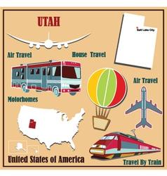 flat map utah vector image