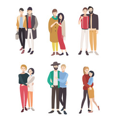 gay couples flat colorful lgbt men vector image vector image