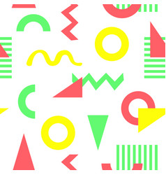 Geometric color pattern memphis design confetti vector