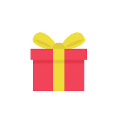 Gift icon isolated on white background vector