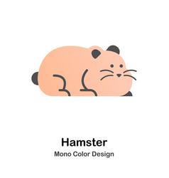 hamster mono color icon vector image