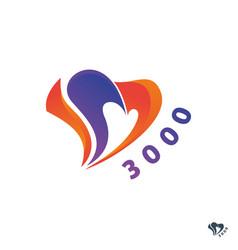 heart love colorful logo design vector image