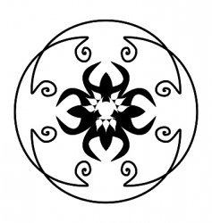 Illustration decorative ornate for design vector