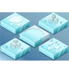Isometric Arctic Sea with Iceberg vector image