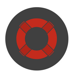 life ring glyph color icon vector image
