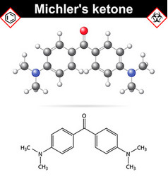 Michlers ketone organic chemical compound vector image