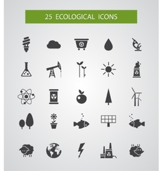 Modern flat design conceptual ecological icons vector image