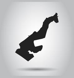 Monaco map black icon on white background vector
