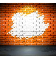 Painted brick wall vector image