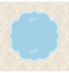 Pastel ornate blue frame vector