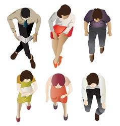 people sitting top view set 1 vector image