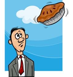 pie in the sky saying cartoon vector image