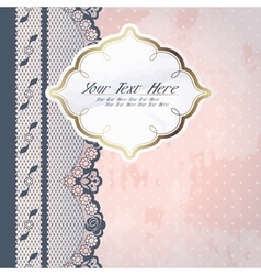 pink background with lace vector image vector image