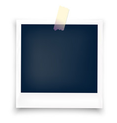 polaroid blank photo frame with sticker vector image