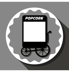 Pop corn food stand vector