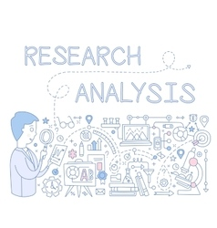 Research Analysis Infographics vector