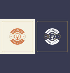 restaurant logo template with vector image