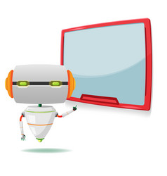 Robot monitor character present machine vector
