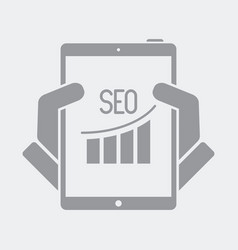 seo data on tablet vector image
