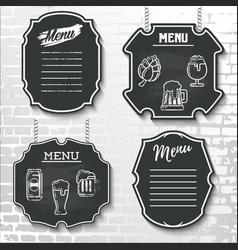 Set design elements chalkboard menu sample vector