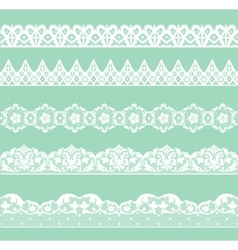 Set of lacy borders vector
