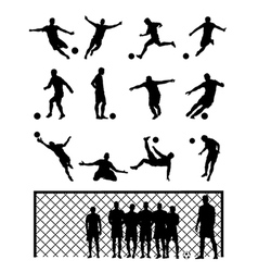 Set Of Soccer Player vector image